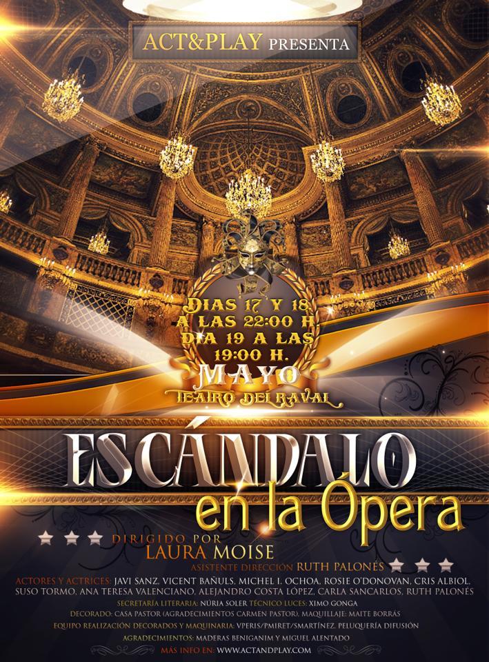 Cartel de Escándalo en la ópera