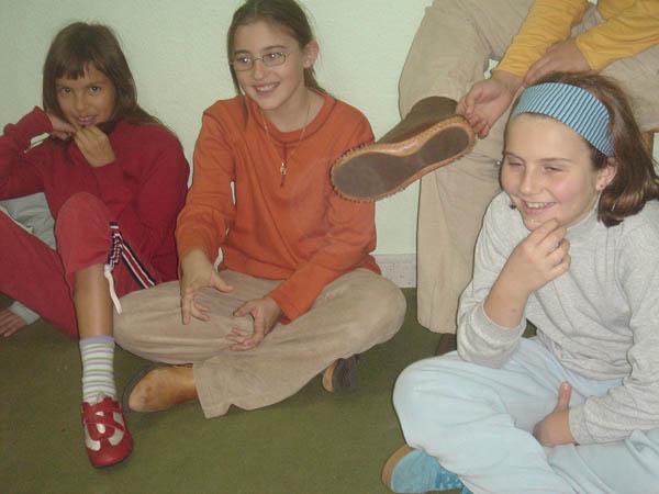 En la antigua escuela, noviembre de 2006.