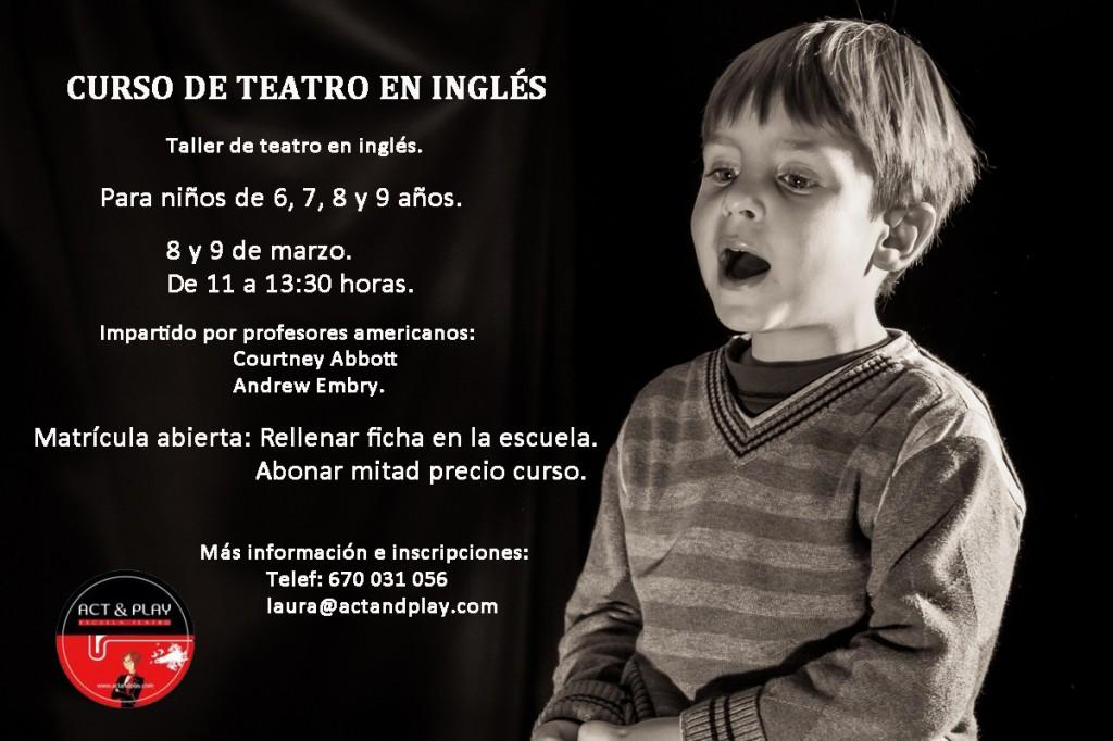curso teatro inglés para niños