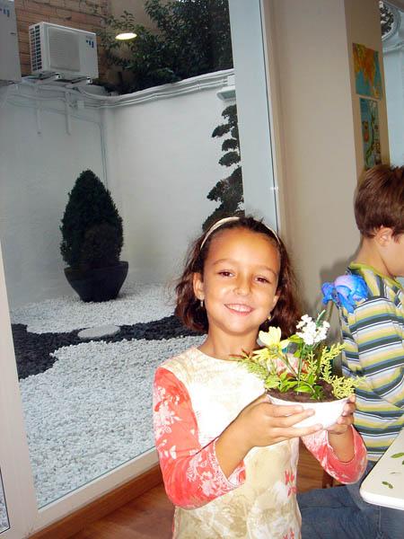 Ikebana en la escuela