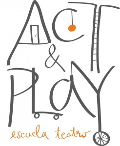 Nuevo logo escuela teatro Act and play