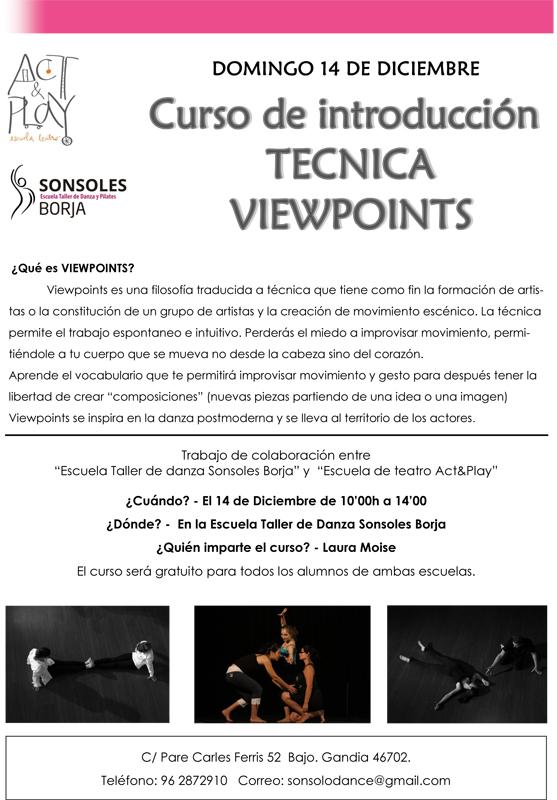 curso de introducción a la técnica Viewpoints