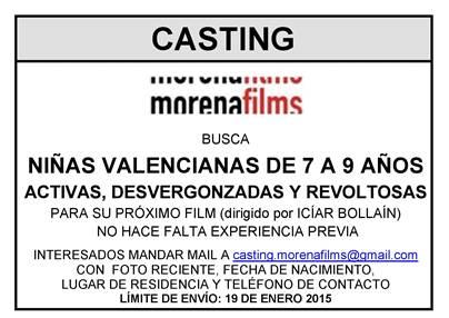 Casting nueva película de Icíar Bollaín