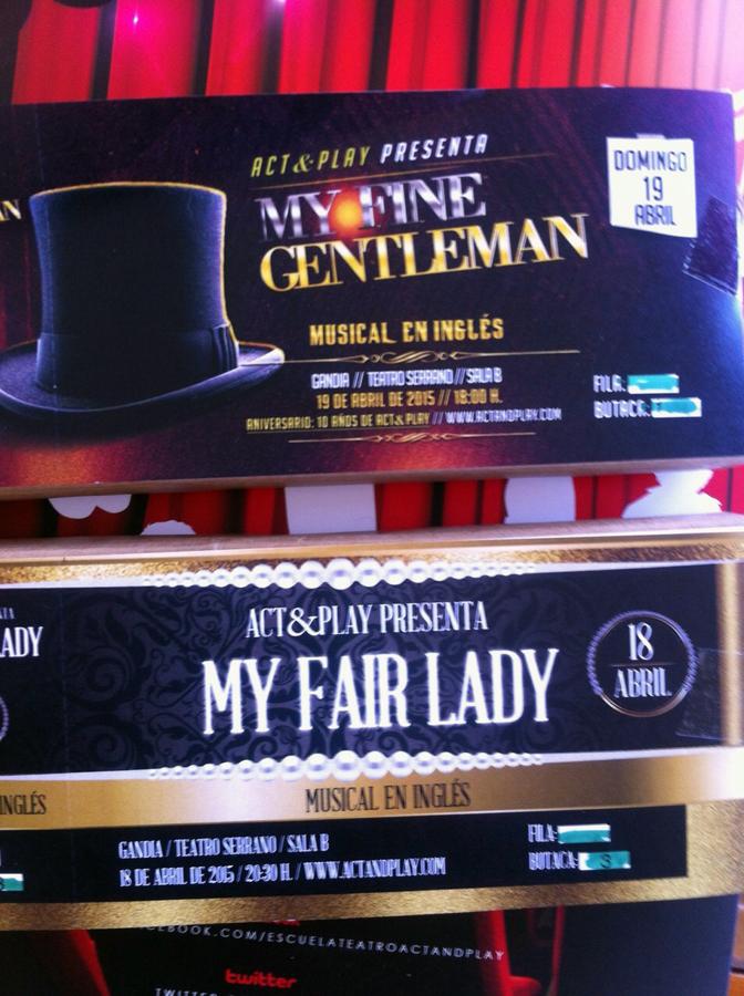 Entrasa My fine gentleman y my fair lady