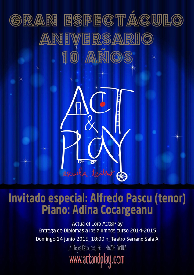 !0º aniversario Act and Play